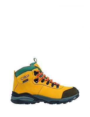 CMP Trekking Shoes Hiking Boots Boat Yellow Turais Suede Waterproof
