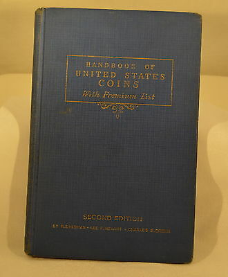 1943 Handbook Of United States Coins - R.s. Yeoman - Second Edition - Blue Book