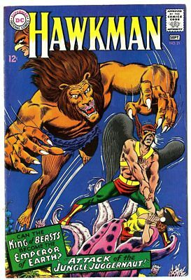 Hawkman #21 VF/NM 9.0 off-white pages  DC  1967  No Reserve