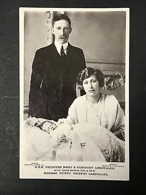 Vintage RPPC Postcard HRH PRINCESS MARY Viscount Lascelles & Son 1920 Beagles