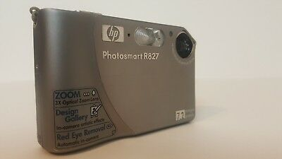 HP Photosmart R827 7.2MP Digital Camera with 3x Optical Zoom Ultra Fast Shipping
