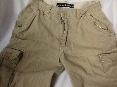 Beverly Hills Polo Club Beige Cargo Shorts Size 32 100% Cotton NEW