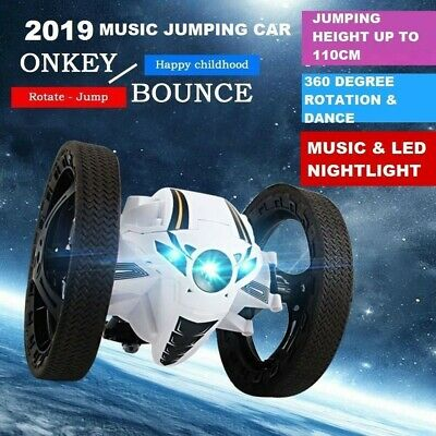 2018 2.4GHz RC Bounce Car Jumping Sumo Toy Remote Control Spin Rotate LED LIGHT