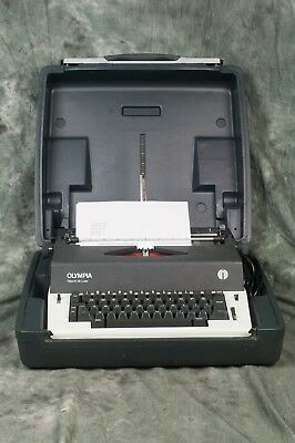 Olympia Report Deluxe Electric Typewriter International Heavy Duty Portable