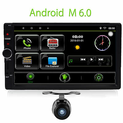 7 dab android 6 0 doppel din autoradio gps bluetooth. Black Bedroom Furniture Sets. Home Design Ideas