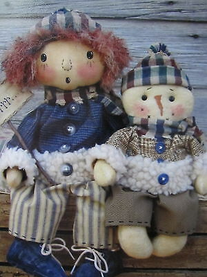 ** JANUARY'S FREEZIN'  *..Cloth Doll  pattern..by Cat & The Fiddle Designs..NEW