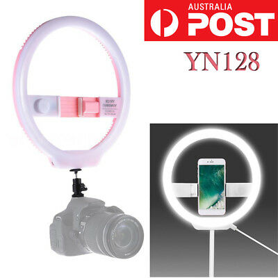 YONGNUO YN128 Selfie LED Ring Light Pink Camera Photography For iPhone Samsung