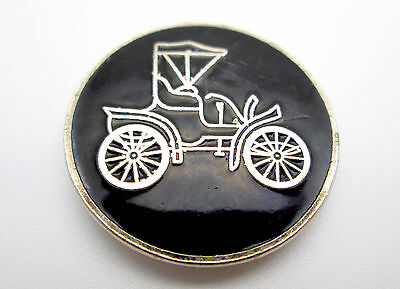 Vintage • Bolo Slide Horseless Carriage Black Enamel - Cadillac? Fast Shipping!