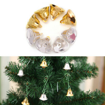 10 pcs Xmas Gold And Silver Beads Christmas Jingle Bells DIY Jewelry 2*2CM SEAU