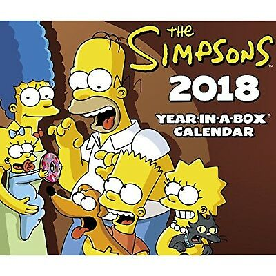 2018 The Simpsons Calendar (Year-In-A-Box) PRS