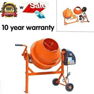 Cement Mixer Portable Electric Concrete Mixing Machine 63 Litre 240V Industrial
