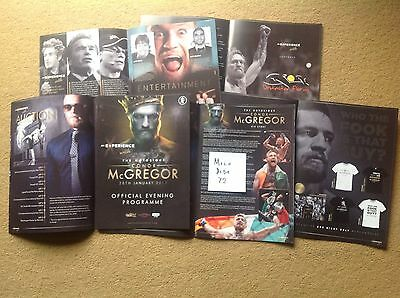 NOTORIOUS CONOR McGREGOR UFC CAGE FIGHTER OFFICIAL PROGRAMME FLOYD MAYWEATHER