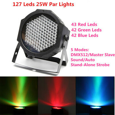 127LED DMX512 7CH RGB Effect PAR Stage Light Laser Projector Lamp DJ Party KTV