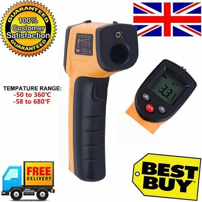 Digital Infrared Temperature Temp Gun Thermometer Non-Contact IR Laser Point UK