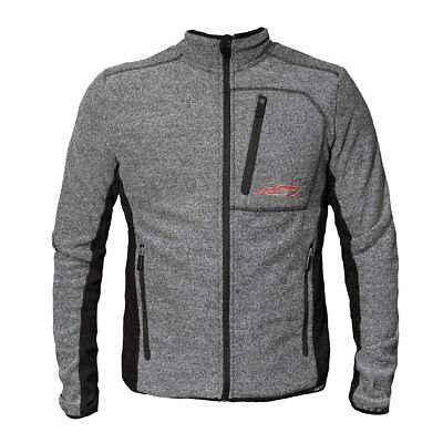 RST Grey Marl Motorcycle Motorbike Full Zip Fleece Casual Jacket | All Sizes