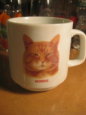 Vintage Papel Morris the Cat Orange Tabby Advertising Coffee Mug Feline