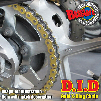 DID Gold Heavy Duty X-Ring Motorcycle Chain 530 VX x 102 Links