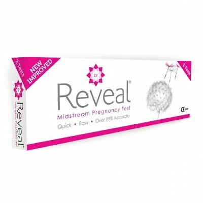 Reveal Midstream Pregnancy 2 Tests >99% Accuracy UK Pharmacy Stock Discreet Post