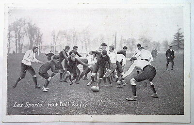 RUGBY POSTCARD  FRENCH ORIGIN CIRCA 1920's MATCH ACTION