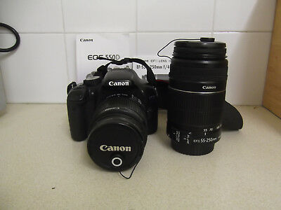 Canon EOS 550D / Rebel T2i 18.0MP Digital SLR Camera - Black (Kit w/ EF-S IS II