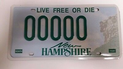 NH New Hampshire Sample License Plate 00000