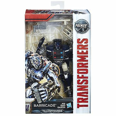 Hasbro Transformers Mv5 The Last Knight Deluxe Barricade Premier Edition