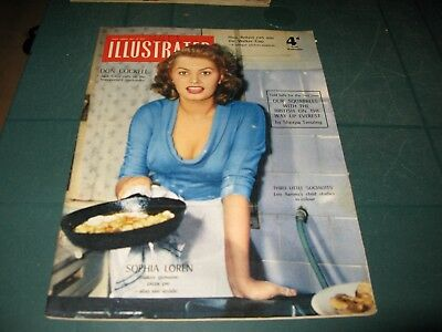 Vintage Magazines - Illustrated - 14Th May 1955 Sophia Loren Cover