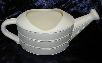 Ready to Paint Ceramic Bisque- Small oval  Watering Can