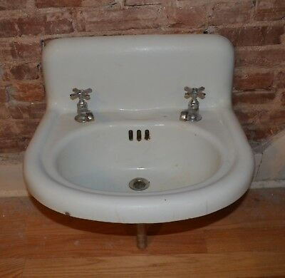 Antique Victorian Bathroom Lavatory Sink - Circa 1895 Architectural Salvage