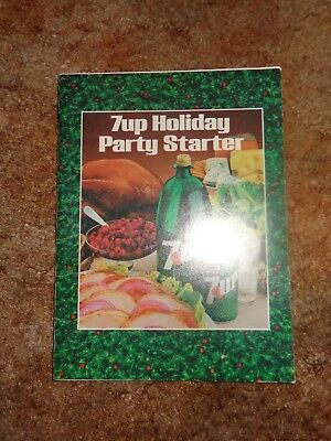 Vintage 7-Up Holiday Party Starter Book 1981 Recipes 7Up