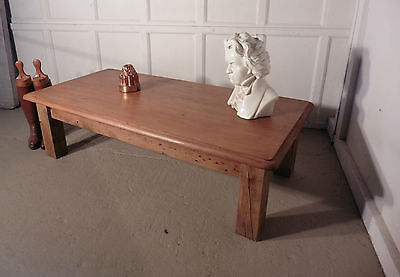 Large Victorian Pine Farmhouse Coffee Table