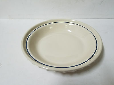 """Longaberger Blue Woven Traditions Heritage 10 ½"""" Pie Plate Dish USA"""