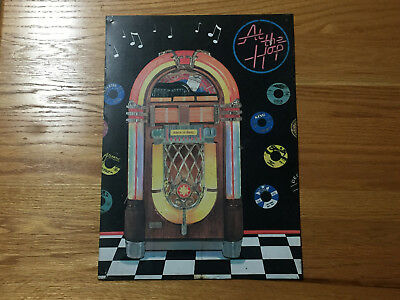 ROCK 'N' ROLL AT THE HOP JUKEBOX TIN SIGN 12-1/2 x 17-1/4