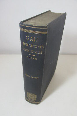 Gaii - Elements of Roman Law / Institutionum Iuris Civilis Commentarii.., 1890