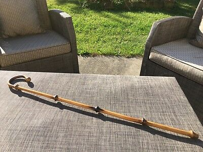 Vintage Bamboo Cane Walking Stick...Authentic Handmade