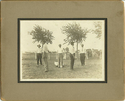 """c1900 HUGE (3) PHOTO SET - Texas ***COLT """"PEACEMAKER"""" DUEL***Three Cabinet Cards"""