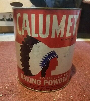Calumet Baking Powder 10 Lb. Tin / Can General Store Display