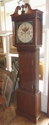 "8 day longcase clock with moonphase Lomax Blackburn 7' tall by 20"" wide"
