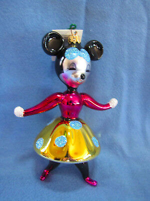 Christopher Radko Vintage Minnie Mouse Ornament- Made In Italy