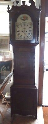 "Very large 8 day longcase clock by Smith Huddersfield 94"" x 24"" x 10"""