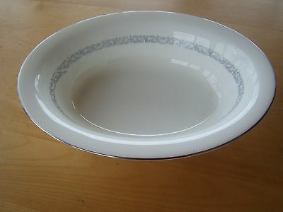 Minton Silver Scroll S 730 Oval Serving Bowl