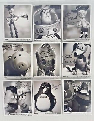 New (9) Disney Pixar Toy Story 2 Autographed Character Pins... Free Shipping