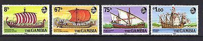 Gambia . Early Sailing Vessels Mnh 1980