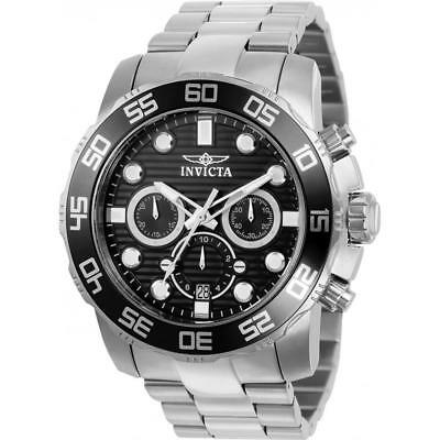 Invicta Men's 50mm Pro Diver Quartz Chronograph Stainless Steel Watch 22226