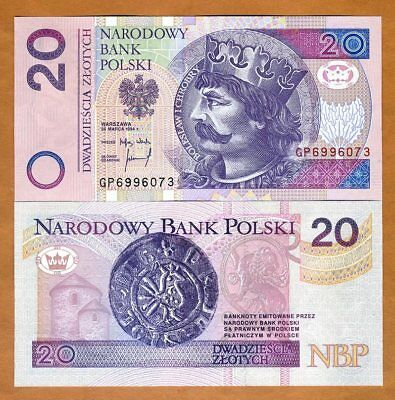 Poland, 20 Zlotych, 1994, P-174a, UNC