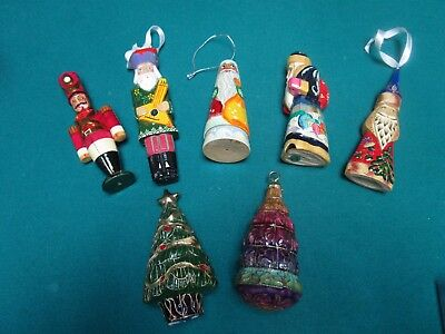 Russian Christmas Ornaments Hand Carved And Handpainted A 5