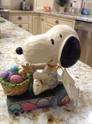 Jim Shore Peanuts Charlie Brown Snoopy Woodstock Easter Beagle