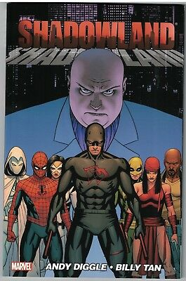SHADOWLAND TP TPB $19.99srp  Andy Diggle  Billy Tan  Daredevil  Moon Knight  NEW
