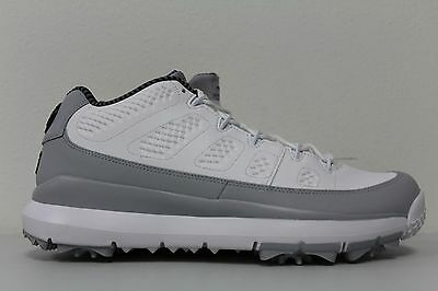 756534548af9 Nike Mens Air Jordan 9 IX Retro Size 8 Golf Shoes Barons White Grey 833798  103