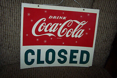 1950's Coca Cola Open/Closed Sign Snowflakes